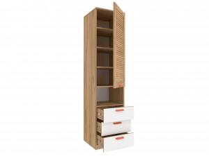 Одно-дверный шкаф с дверью и с 3-мя ящиками - 524.060 (универсальный - ЛЕВЫЙ / ПРАВЫЙ)