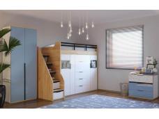 2-х дверный низкий шкаф для кровати-чердака, с полками внутри - 528.190 (универсальный L / R)