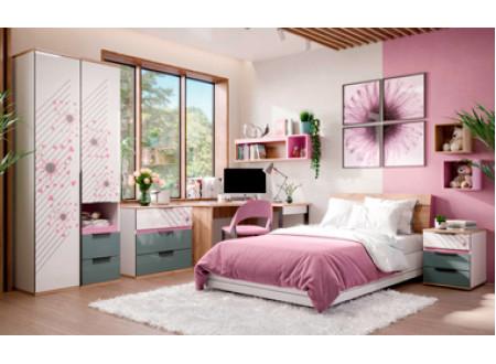 Кровать полутороспальная сп. место - 120*200 с высоким изголовьем - 528.020