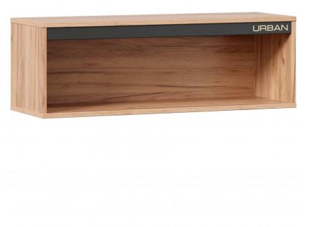 Полка навесная, прямоугольная с декоративной планкой - 528.140
