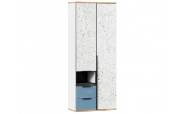 2-х дверный шкаф с ящиками - Капри Синий
