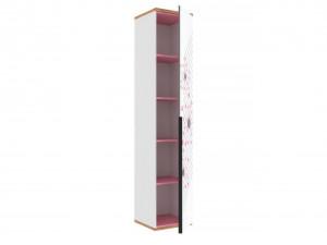 Одно-дверный шкаф с 4-мя полками - 528.040 ПВ - (универсальный L / R) - вар. 3 - с Розовым