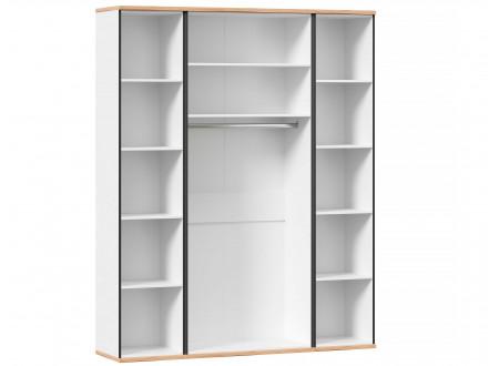 4-х дверный шкаф с полками и штангой - 528.050-040-040 (вар. 1 - Капри Синий)