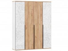 4-х дверный шкаф с полками и штангой - 528.050-040-040 (вар. 2 - Дуб Золотой)