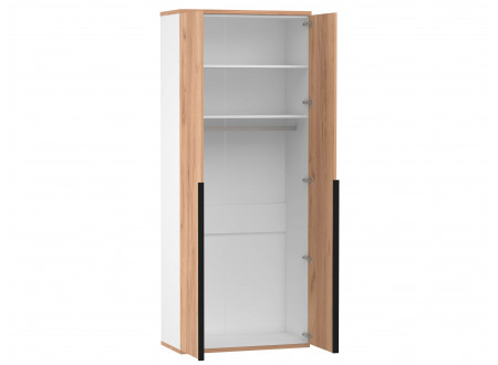 2-х дверный шкаф с 2-мя полками и штангой - 528.050 ПВ (вар. 2 - Дуб Золотой)