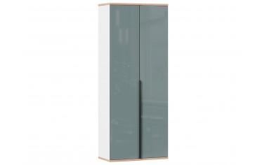 2-х дверный шкаф с полками и штангой - с Розовым