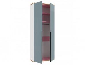 2-х дверный шкаф с 2-мя полками и штангой - 528.050 ПВ (вар. 3 - с Розовым)