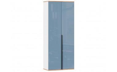 2-х дверный шкаф с полками и штангой - Капри Синий
