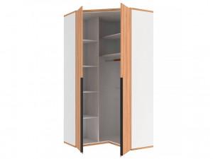 Угловой 2-х дверный шкаф с полками и штангой - 528.060 ПВ (вар. 2 - Дуб Золотой)