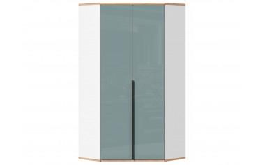 Угловой 2х дверный шкаф с полками и штангой - с Розовым