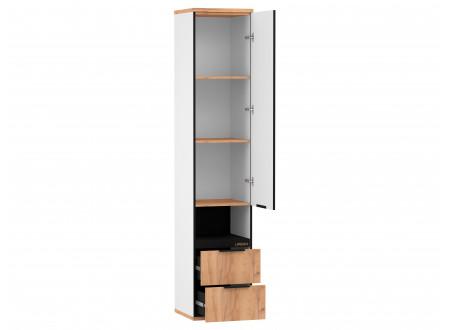 1-дверный шкаф с нишей и 2-мя ящиками внизу - 528.070 ПВ - (L / R) - вар. 2 - Дуб Золотой
