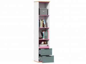 1-дверный шкаф с нишей и 2-мя ящиками внизу - 528.070 ПВ - (L / R) - вар. 3 - с Розовым