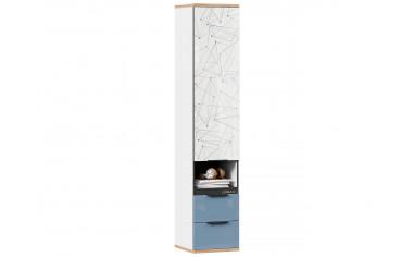 Одно-дверный шкаф с ящиками - Капри Синий