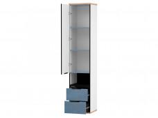 1-дверный шкаф с нишей и 2-мя ящиками внизу - 528.070 ПВ - (L / R) - вар. 1 - Капри Синий
