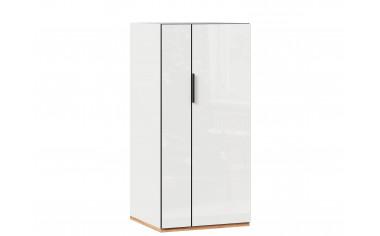 2-х дверный низкий шкаф под кровать-чердак, с полками