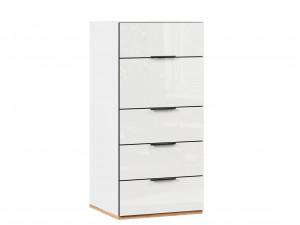 Низкий комбинированный шкаф для кровати-чердака, с откидным фасадом и ящиками - 528.200