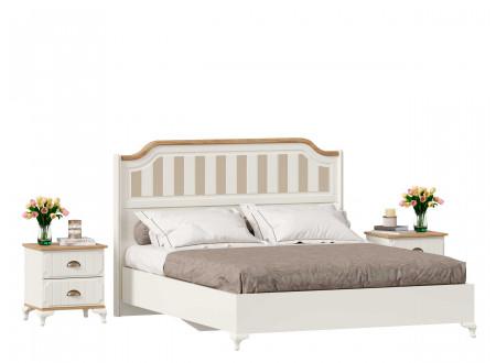 Кровать со сп. м. 160*200, без решетки, без матраса и с высоким изголовьем - ЛД 680.010