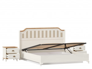 Набор мебели Вилладжио - 8 (Кровать со сп. м. 180*200, с подъемной решеткой, без матраса и с 2-мя тумбами) - ЛД 680.030.017-130-130