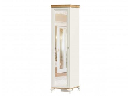 Шкаф 1-дверный с зеркалом и с 4-мя полками внутри - ЛД 680.070.zL - петли СЛЕВА