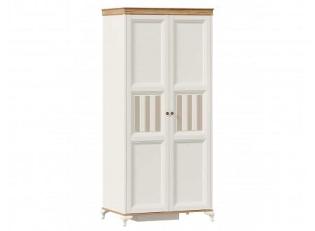 Шкаф 2-х дверный со штангой СЛЕВА и с полками СПРАВА - ЛД 680.080