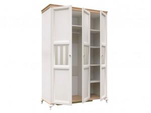 Шкаф 3-х дверный со штангой СЛЕВА и с полками СПРАВА - ЛД 680.090