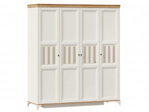 Шкаф 4-х дверный со штангой по середине и с полками по бокам - ЛД 680.100