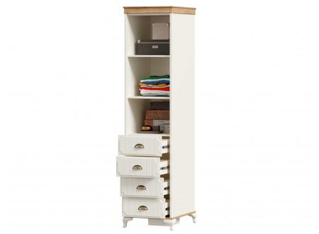 Шкаф комбинированный 1-дверный с 4-мя ящиками - ЛД 680.110.L - петли двери СЛЕВА