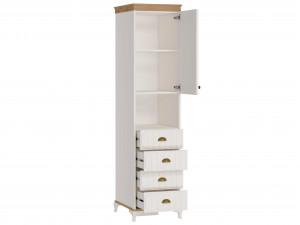 Шкаф комбинированный 1-дверный с 4-мя ящиками - ЛД 680.110.R - петли двери СПРАВА