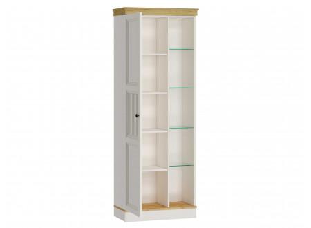 Низкий шкаф 1-дверный с витриной со стеклянными полками СПРАВА - ЛД 680.310