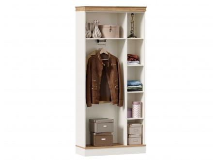 Низкий шкаф 2-х дверный со штангой СЛЕВА и с полками СПРАВА - ЛД 680.330