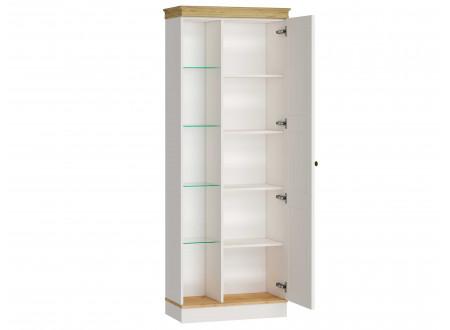 Низкий шкаф 1-дверный с витриной со стеклянными полками СЛЕВА - ЛД 680.380