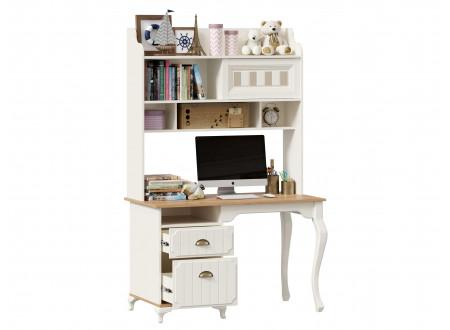 Письменный стол с надстройкой и с тумбой с 2-мя ящиками - ЛД 680.190.220.L - тумба СЛЕВА