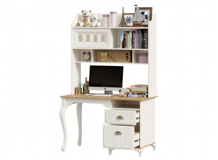 Письменный стол с надстройкой и с тумбой с 2-мя ящиками - ЛД 680.190.220.R - тумба СПРАВА