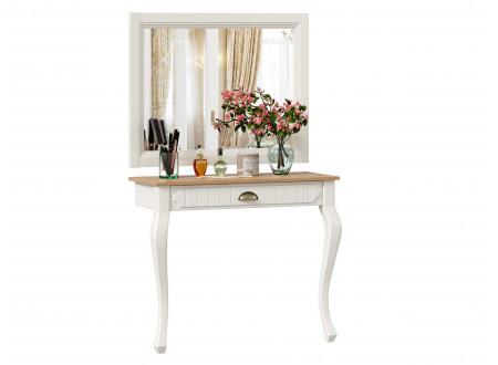 Туалетный приставной стол с ящиком и с зеркалом - ЛД 680.160.170