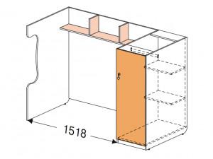 Блок для 2-го этажа - 147507, шкаф СПРАВА