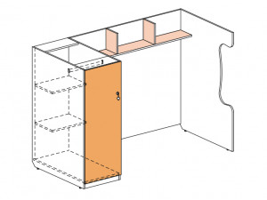 Блок для 2-го этажа - 147508, шкаф СЛЕВА