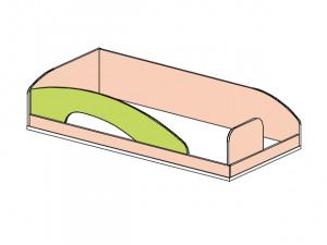 Кровать верхняя - 147509.2 (вход СПРАВА) без лестницы