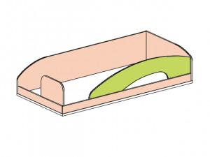 Кровать верхняя - 147510.2 (вход СЛЕВА) без лестницы