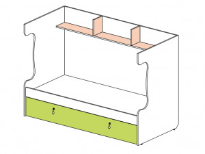 Блок для 2-го этажа 147517, с дополнительной кроватью