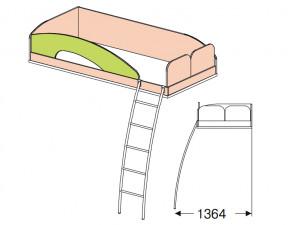 Кровать верхняя - 147709 с лестницей СПРАВА