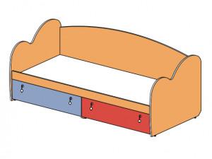 Кровать-тахта 148601, с 2-мя ящиками