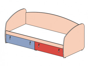 Кровать-тахта 148602, с 2-мя ящиками