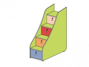 Лестница для 2-го яруса с ящиками - 142903