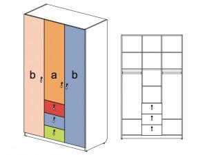 3-х дверный шкаф - 144105
