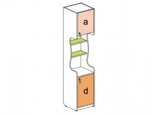 2-х дверный шкаф-стеллаж - 144107.R (ПРАВЫЙ)