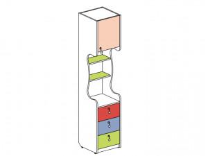 1-дверный шкаф-стеллаж с ящиками - 144108.R (ПРАВЫЙ)