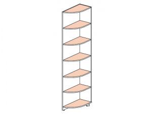 Угловой стеллаж окончание (580мм) - 147104