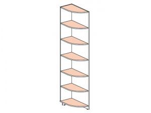Угловой стеллаж окончание (580мм) - 147104.2