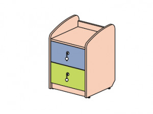 Тумбочка с 2-мя ящиками - 142902