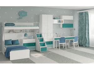 Двойной письменный стол с двумя ящиками - СФ-267513
